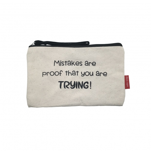 "Bolsa média ""MISTAKES ARE PROOF THAT YOU ARE TRYING!"""