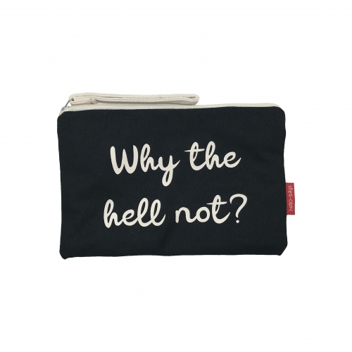 "BOLSA MÉDIA ""WHY THE HELL NOT"" PRETO"